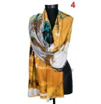 Красив памучен шал в 3 цвята