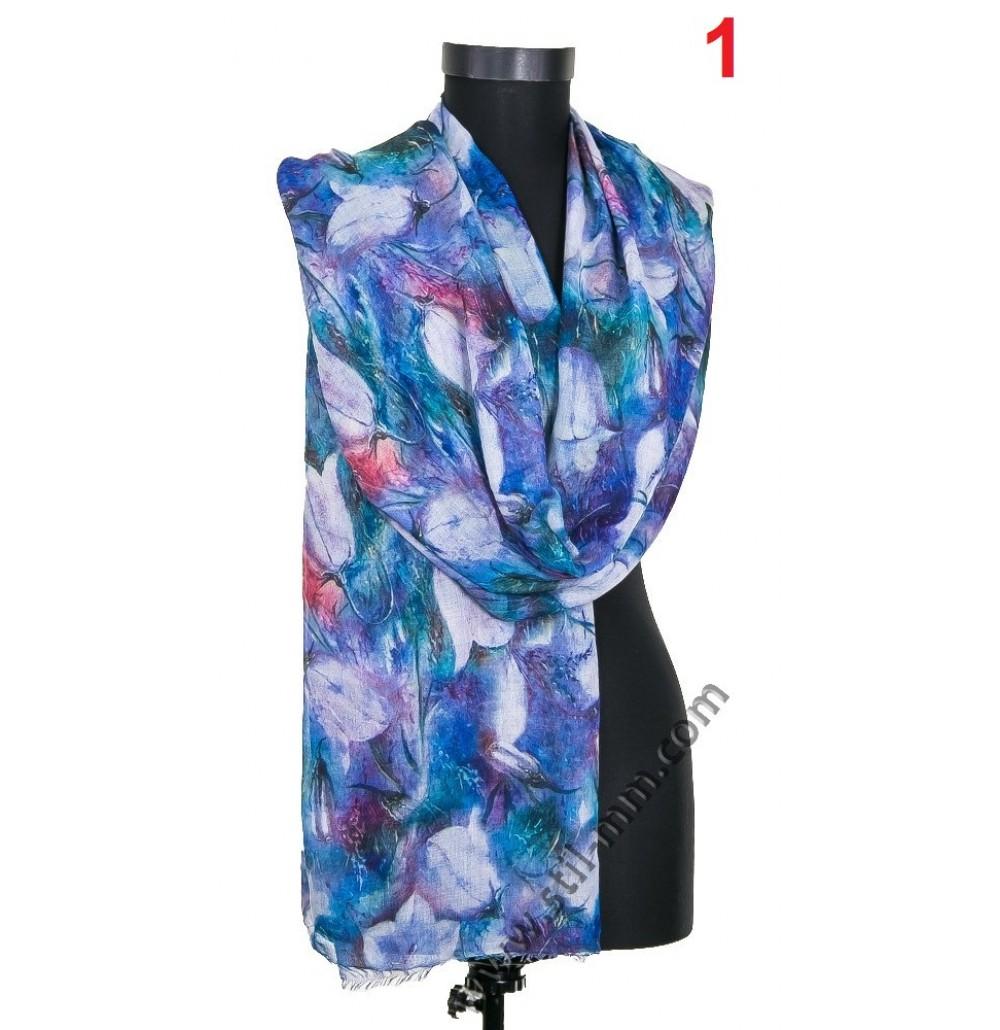 Памучен фин шал в 4 цвята