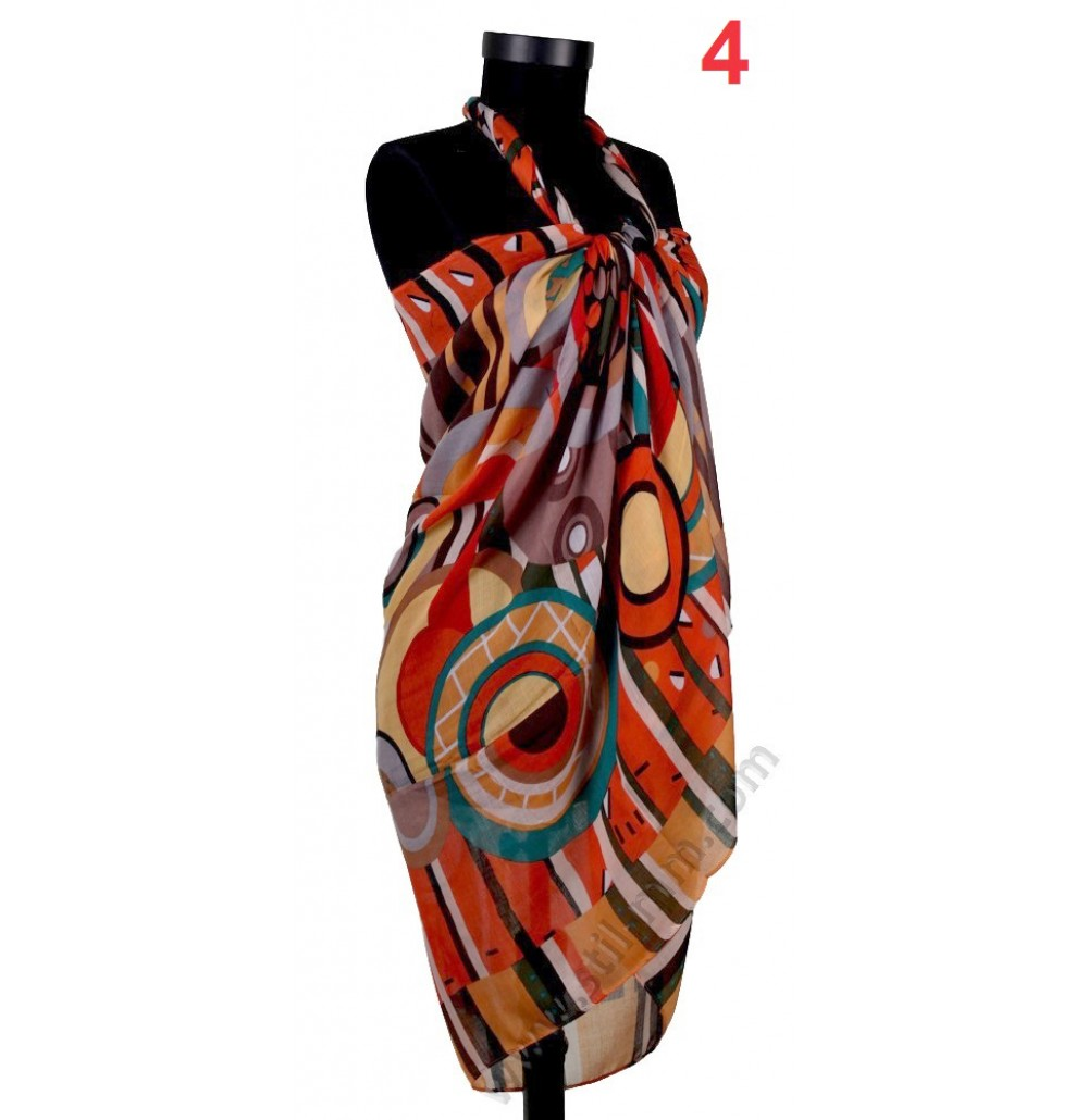 Дамски плажен шал в 6 цвята