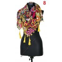 Дамски квадратен шал в 6 цвята