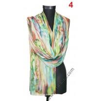 Дамски рисуван памучен шал в 2 цвята
