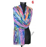 Дамски рисуван памучен шал в 8 цвята