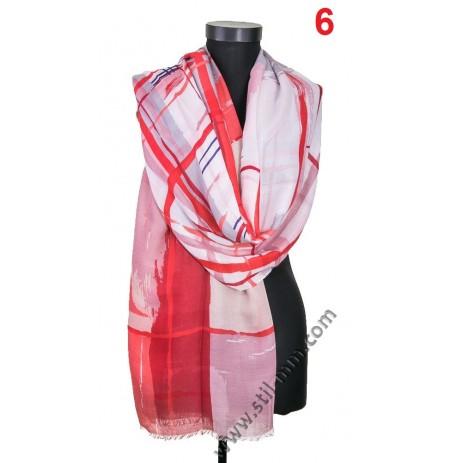 3915 Памучен голям шал в 3 цвята