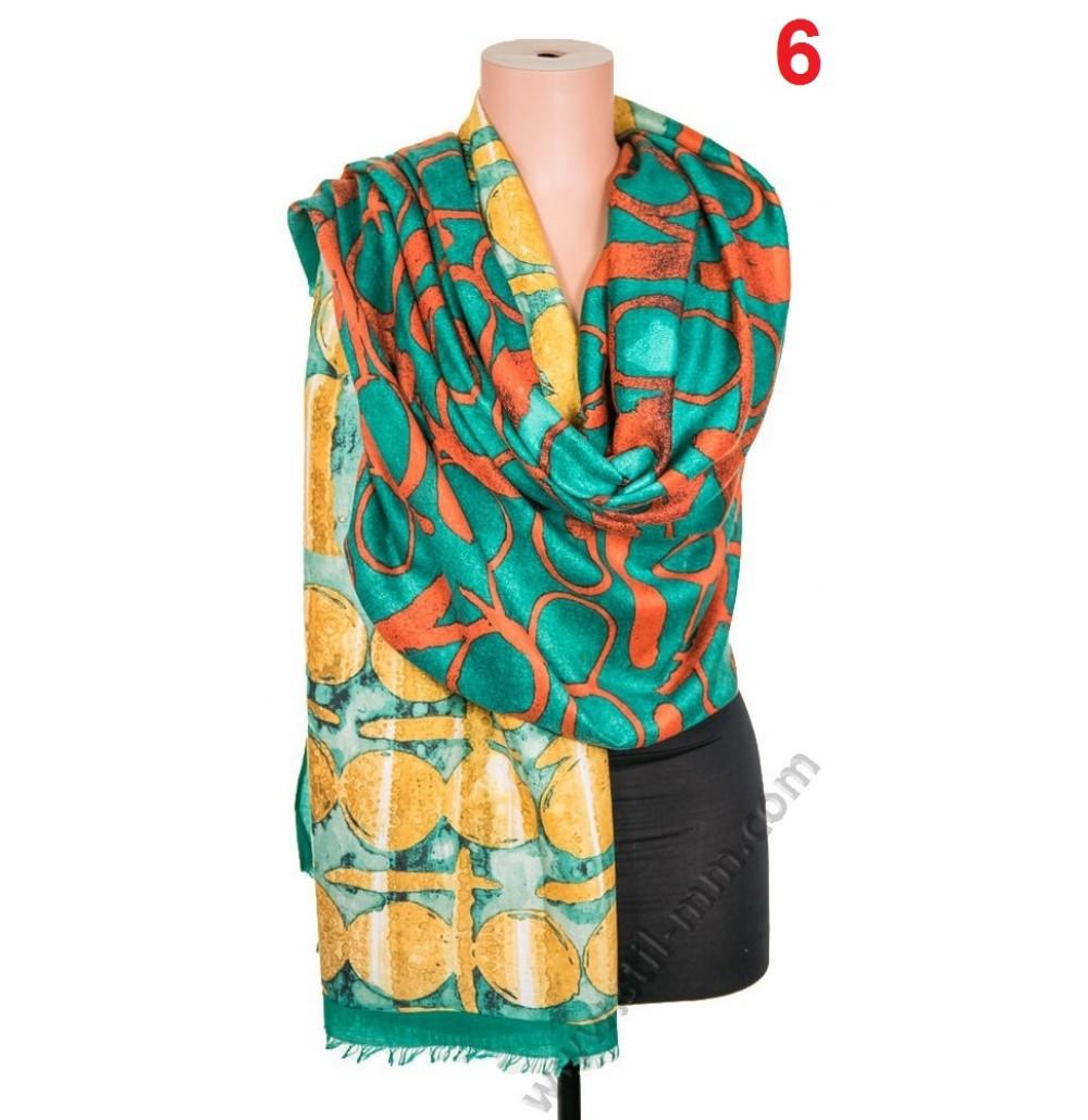5669 Памучен дамски шал в 6 цвята