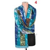 5668 Памучен дамски шал в 6 цвята