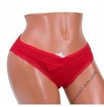 039 Памучна дамска бикина в червено