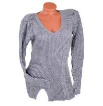 Дамска блуза в светло сиво