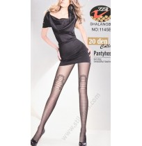 1145B Фин дамски фигурален чорапогащник в черно