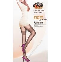 1146B Дамски фигурален чорапогащник в черно