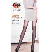 1167B Чорапогащник имитация на чорапи в черно