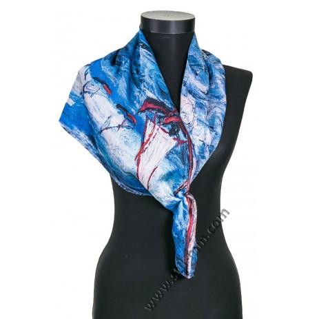 Дамски шал с картина лодки в морето