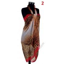 Красив плажен памучен шал в 6 цвята