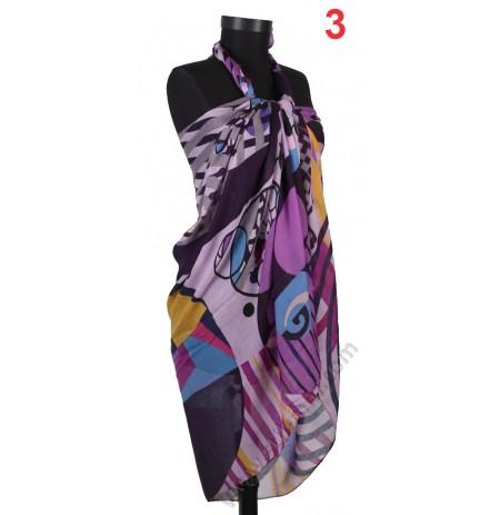 Дамски плажен шал в 7 цвята