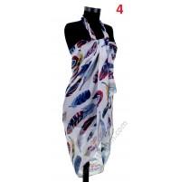 Красив памучен плажен шал в 5 цвята