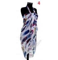 Красив памучен плажен шал в 2 цвята