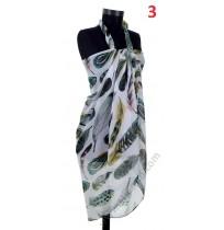 Красив памучен плажен шал в 4 цвята