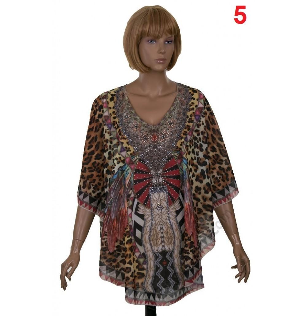 Копринен дамски блузон в 5 цвята