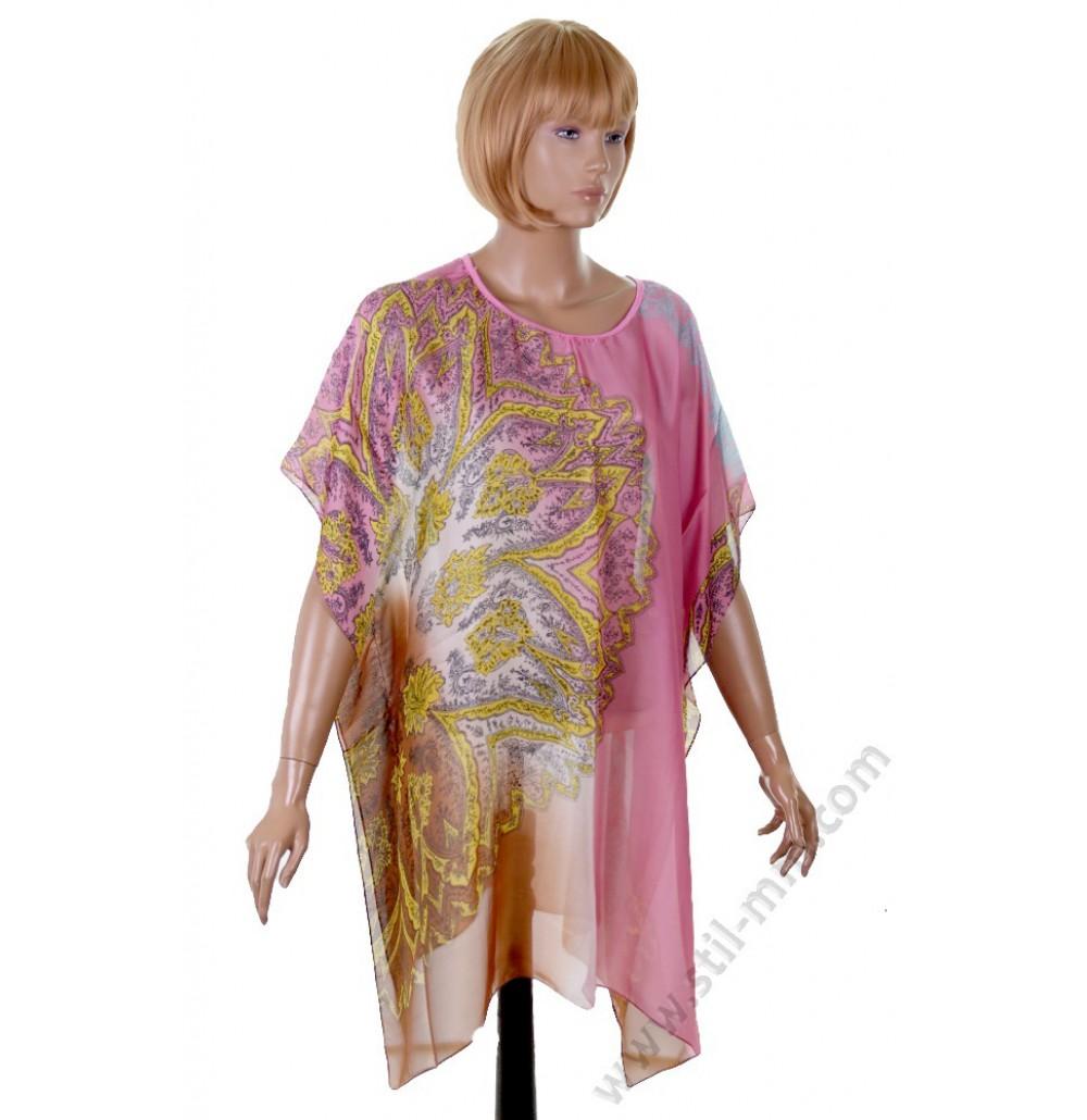 Голям копринен блузон