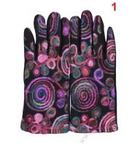 5705 Дамски топли ръкавици с декорация от вълнени конци в 5 цвята