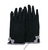 Ватирани дамски ръкавици в черно