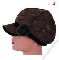 Красива зимна шапка в 2 цвята