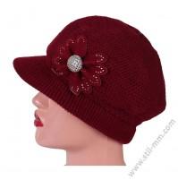 Плетена зимна шапка в 4 цвята