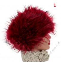 Дамска шапка с косъм в 6 цвята