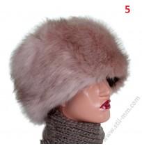 Дамска шапка еко кожа в 6 цвята
