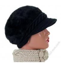 Зимна дамска шапка в 3 цвята