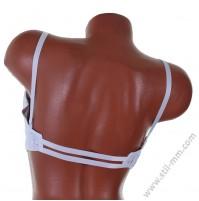 Сутиен със силиконов гръб на чашка D в 3 цвята